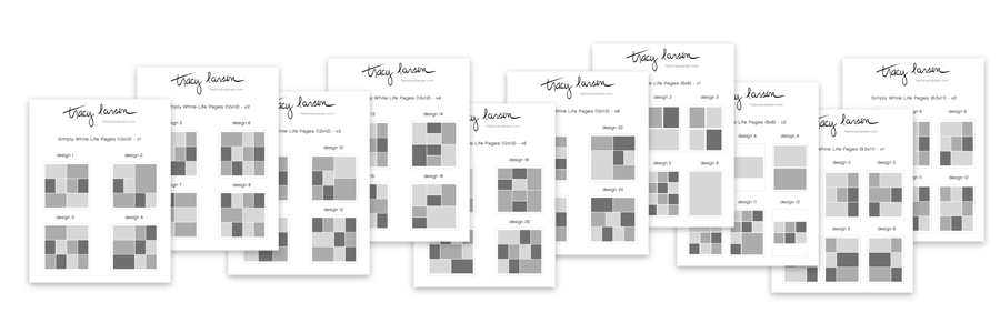 the simply white life pages - free printable index files ==>>  hellotracylarsen.com