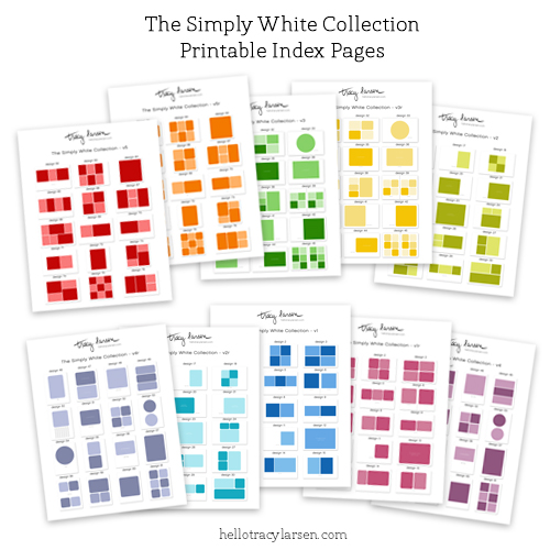 free printable index pages for the simply white collection of photo collage templates for project life and pocket scrapbooking ==>>  hellotracylarsen.com