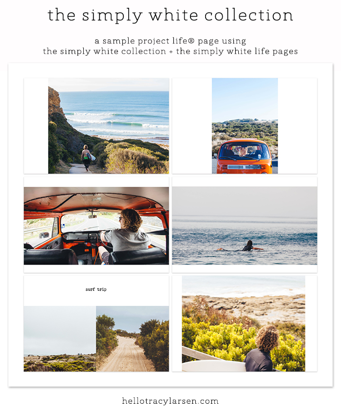 New in the digital shop... The Simply White Collection v6! This brand new set of photo collage templates features edge to edge photos mixed with white space.