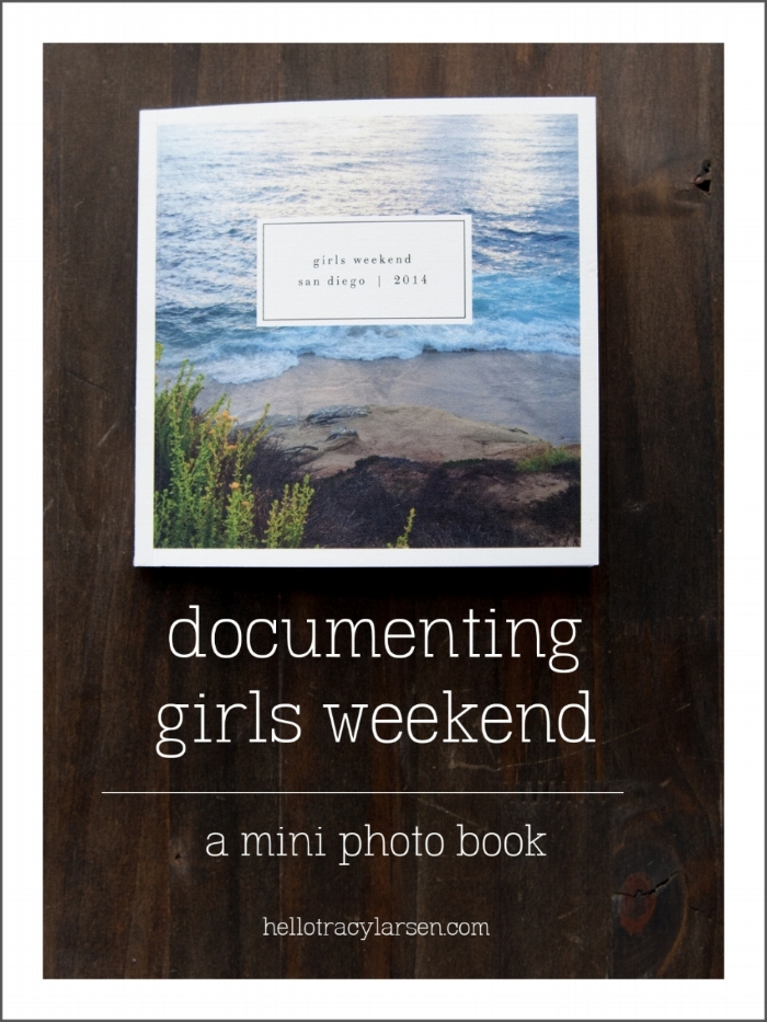 Documenting girls weekend photos in a mini 5.5x5.5 Artifact Uprising photo book  ==>> hellotracylarsen.com