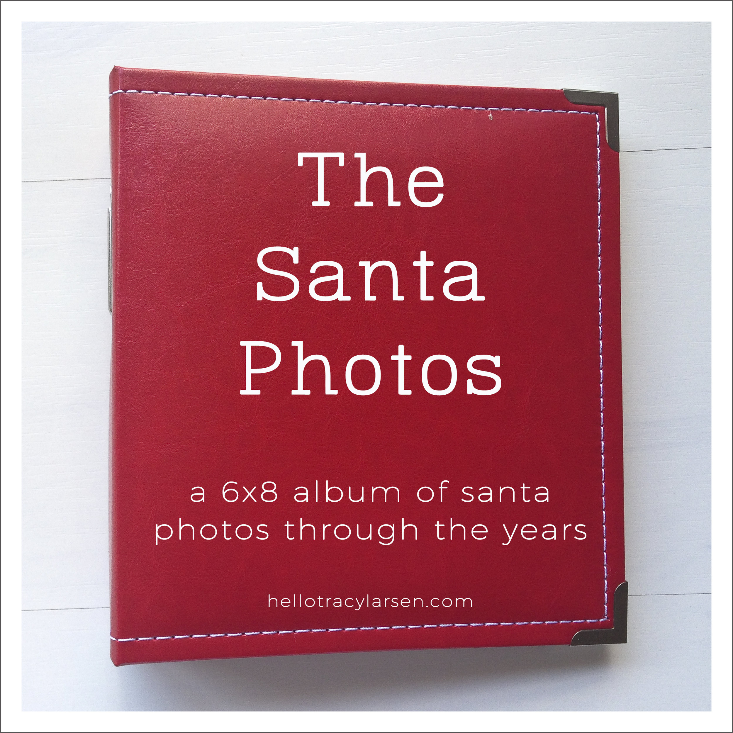 the santa photos - simply white life pages 6x8 templates - digital project life  >>>  hellotracylarsen.com