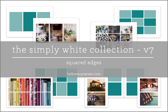 The Simply White Collection v7 + v7r = photo collage templates for digital project life® + digital scrapbooking ==>> hellotracylarsen.com/shop