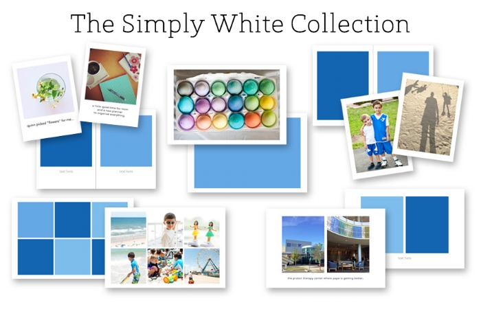 simply white photo collage templates for digital scrabooking + memory keeping + project life ==> hellotracylarsen.com
