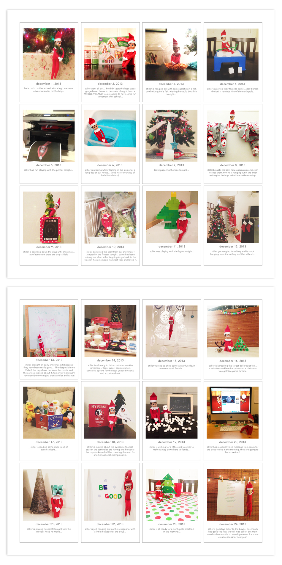 Document your Elf on the Shelf visit with the December Days photo templates + word art  | December Daily ideas + prompts  |  Modern Scrapbooking  |  Project Life + Digital Project Life  |  Pocket Scrapbooking  << hellotracylarsen.com>>