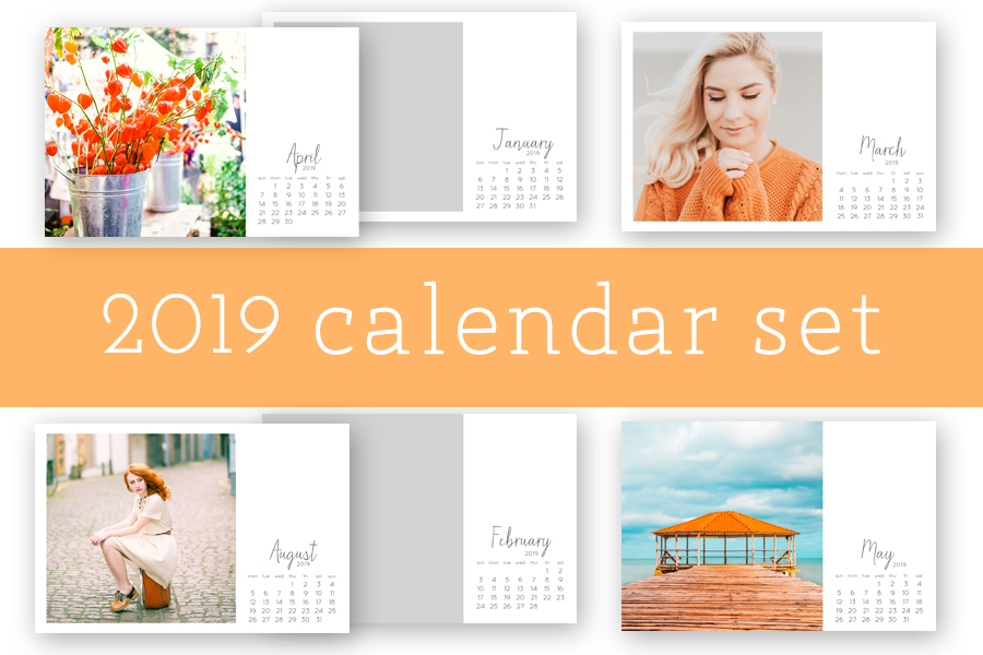 2018 digital calendar photo template 4x6 | digital brush + stamp  | Project Life  | Digital Project Life | Modern Scrapbooking  | Pocket Page Scrapbooking >>> HelloTracyLarsen.com
