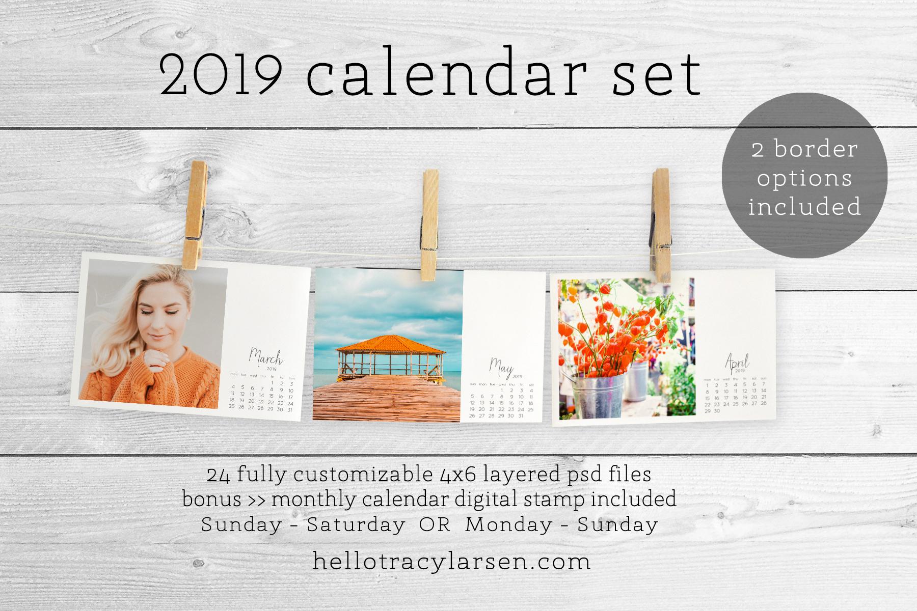 The 2019 Calendar Set — Tracy Larsen Digital Designs