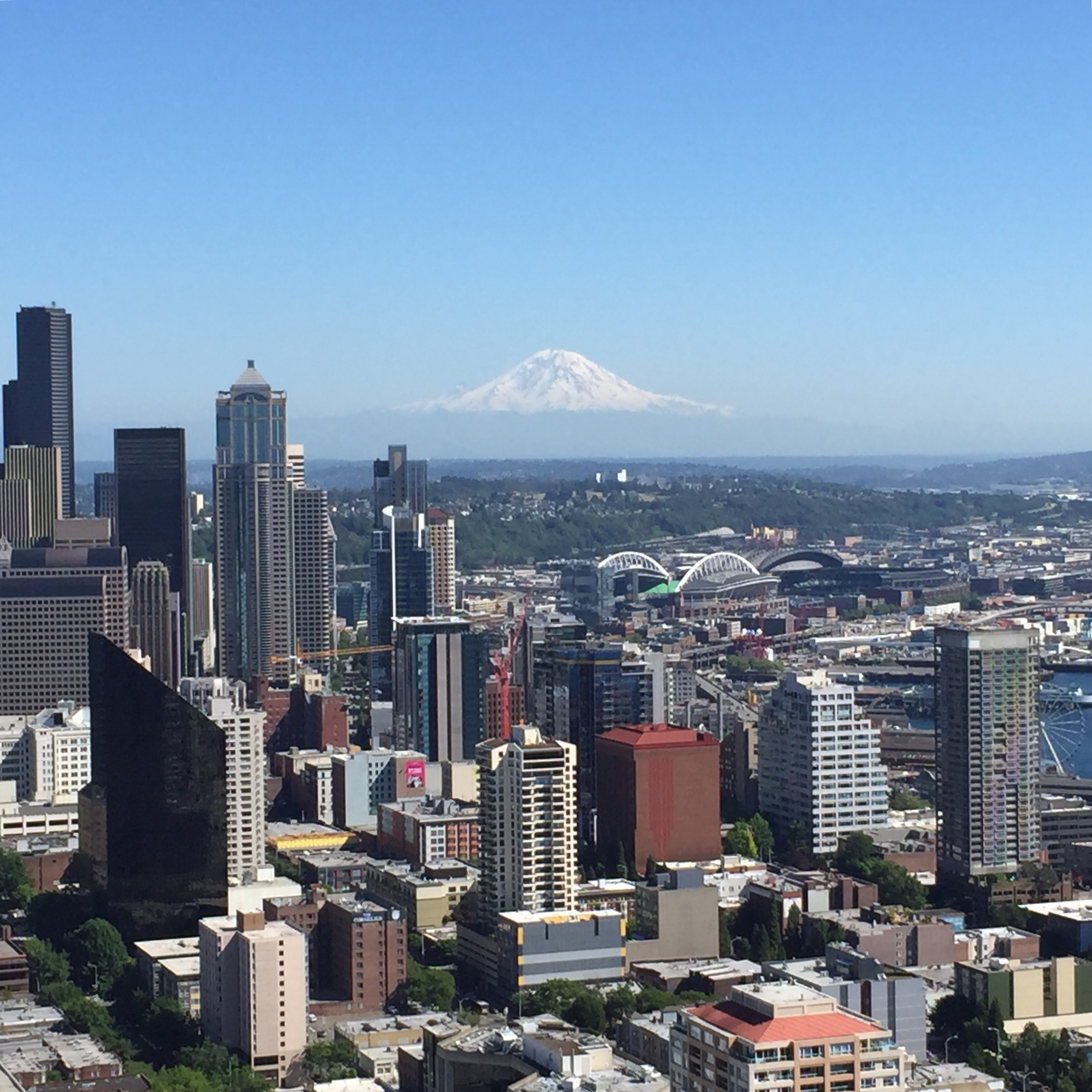 Viewing my Accomplishment from Seattle