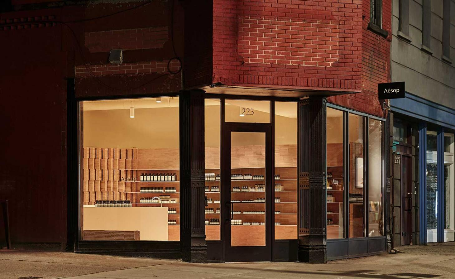 Aesop boutique, Park Slope, Brooklyn, New York.