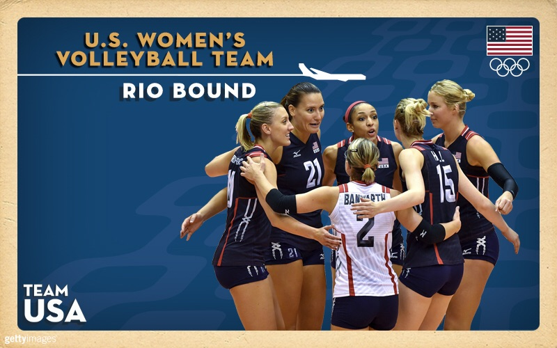 Fun fact: The U.S. Women's National Team is ranked No. 1 in the world by the FIVB and are looking for a repeat Gold medal as they approach Rio.🇺🇸