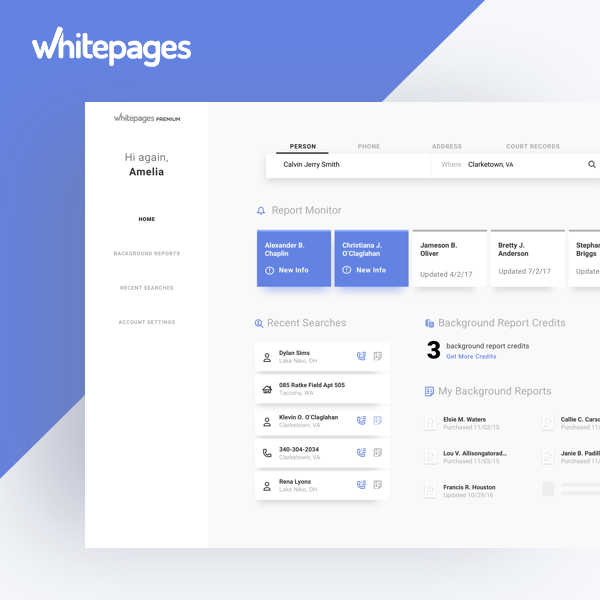 Whitepages Premium Search Experience