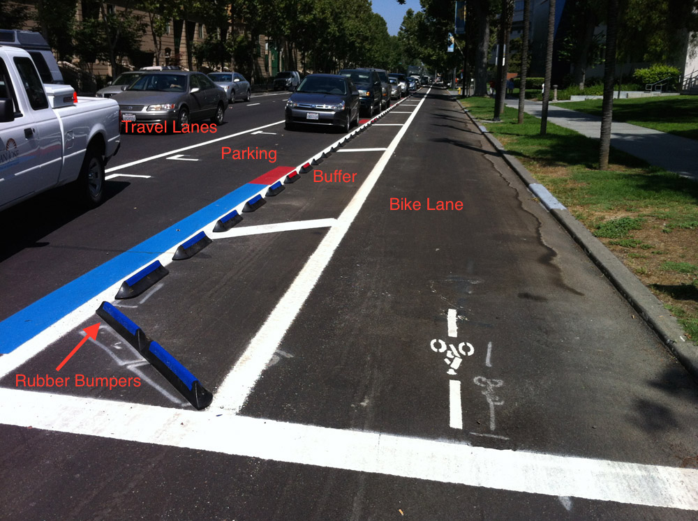 4th Street in San Jose beside San Jose State University   Photo courtesy of the Silicon Valley Bicycle Coalition