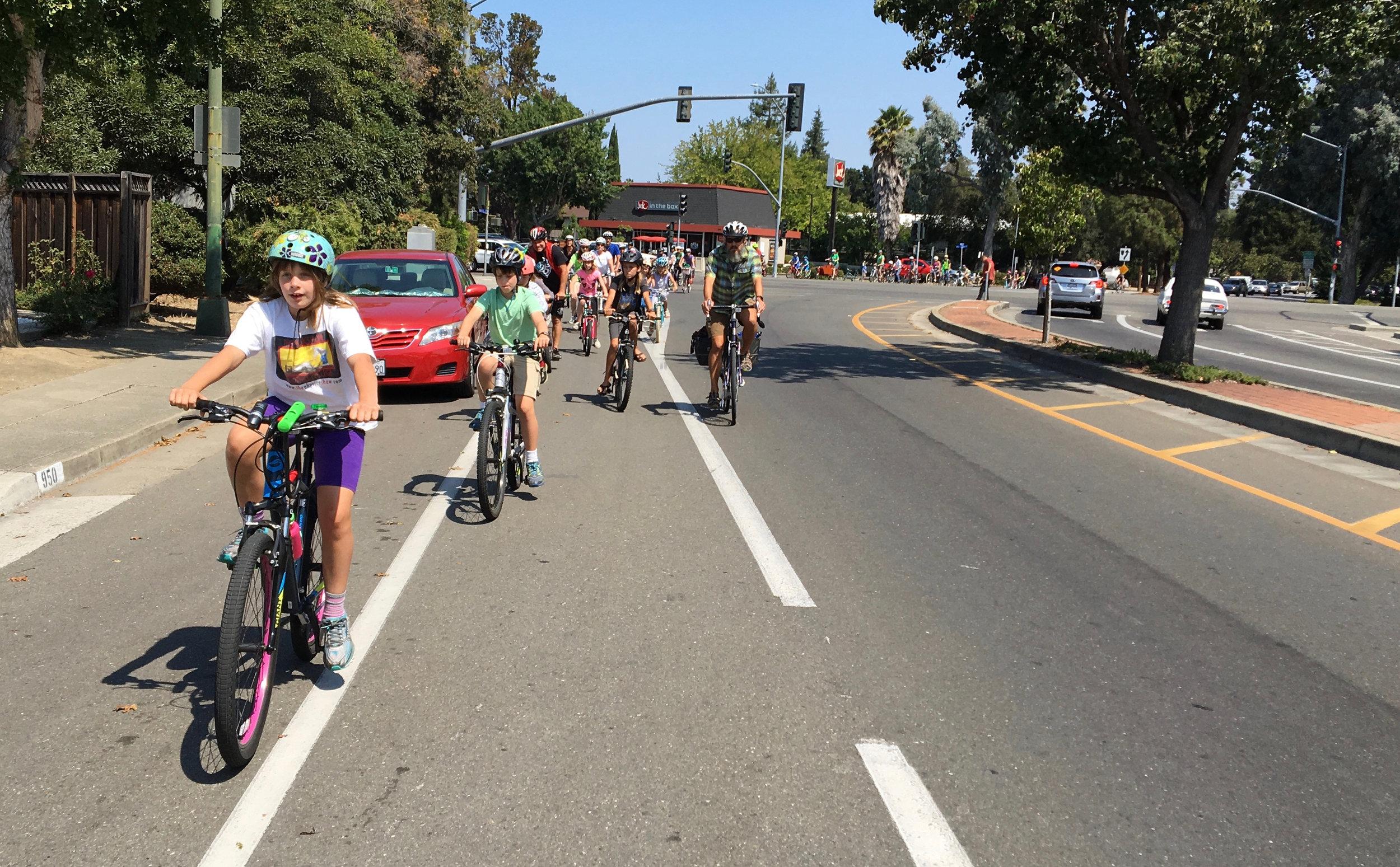 Group Ride across El Camino Real - Photo by John Scarboro