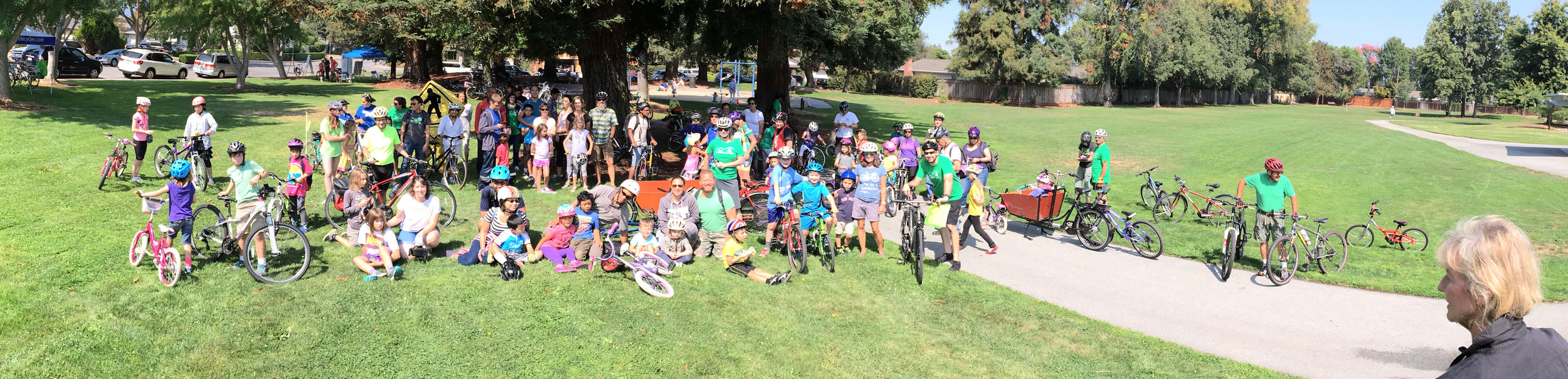 Families all ready to go for their ride - Photo by John Scarboro