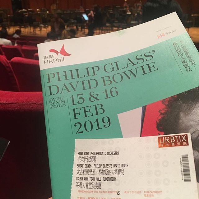 @hkphilharmonic wonderful concert featuring music by Jonny Greenwood, Bryce Dessner, Steve Reich, and Philip Glass/David Bowie. Conducted by André de Ridder #musiclovers