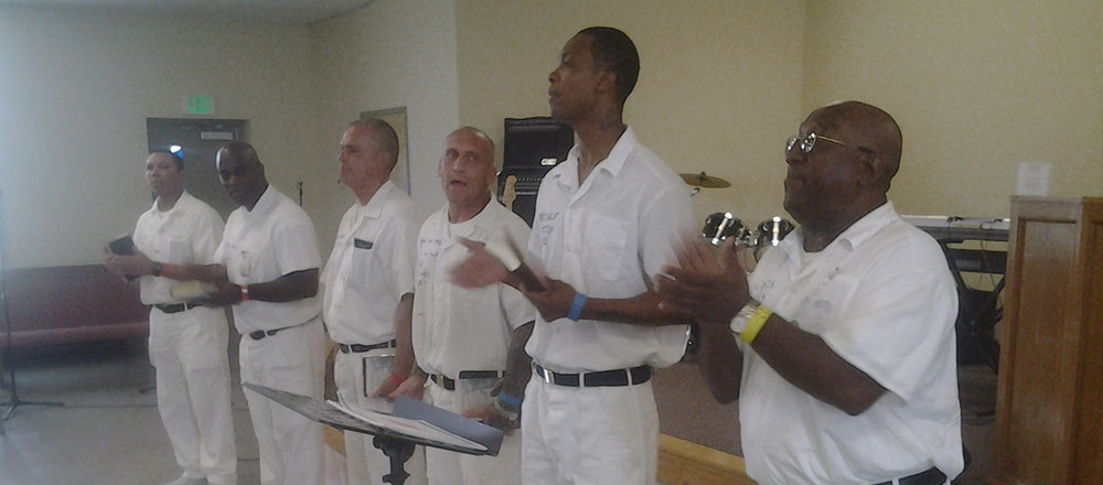 Six Inmates leading a UPMI Bible Class At Bibb County Correctional