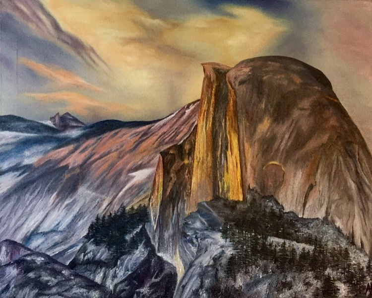 """Half Dome"" 24x30 Oil on Canvas."