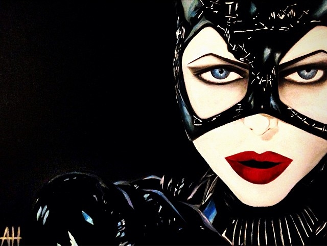 """Catwoman"" 20x24 Oil on Canvas."