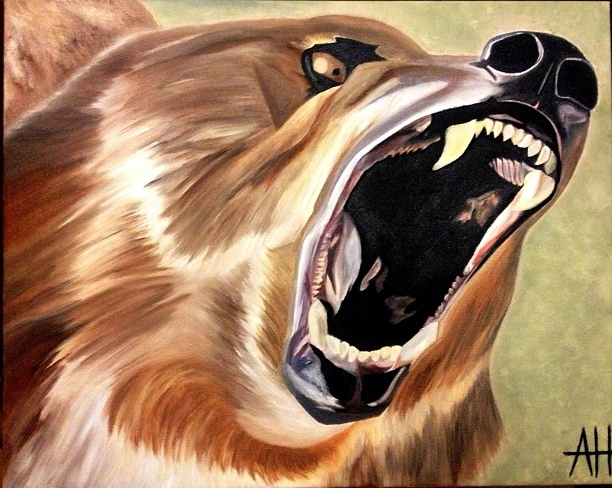 """Animal Instinct"" Oil on Canvas."