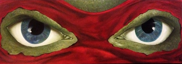 """Sai Eyes"" 10x30 Oil on Canvas."