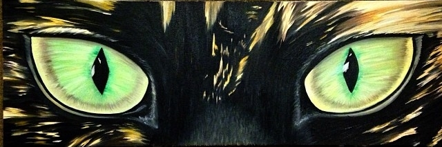 """Rue"" 12x36 Oil on Canvas."