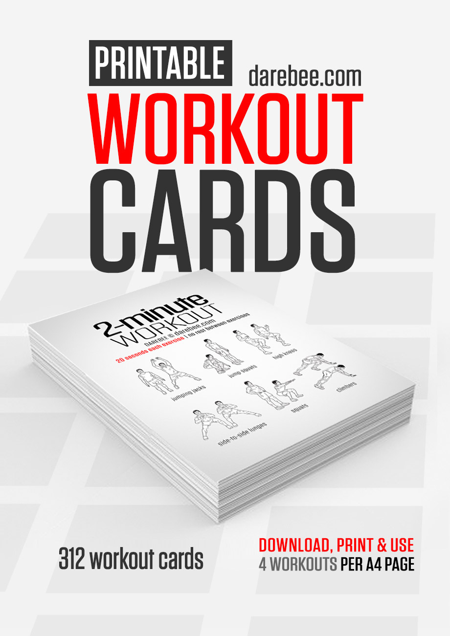 image about Printable Workouts at Home titled Absolutely free printable training playing cards Katie the Artistic Woman