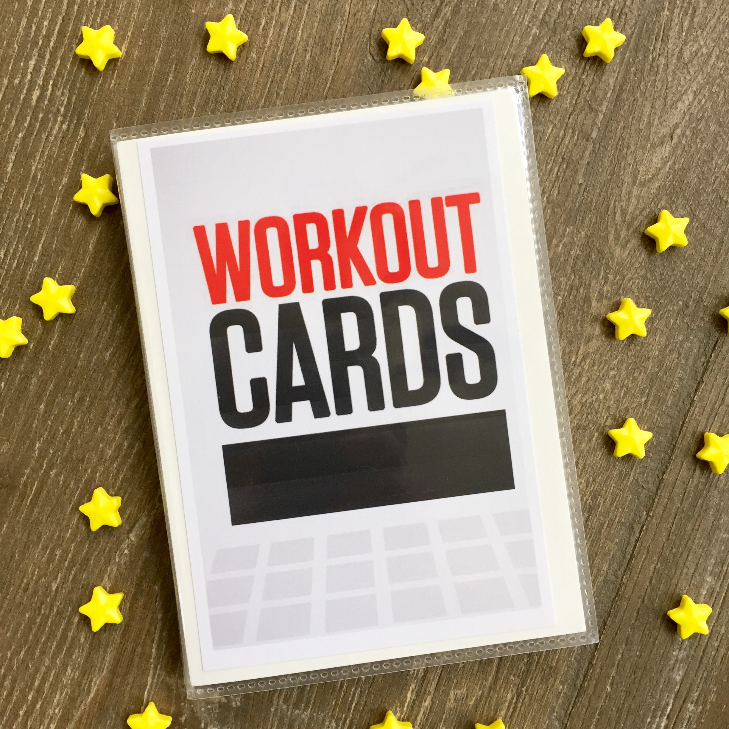 graphic about Printable Exercise Cards titled Totally free printable training playing cards Katie the Innovative Female