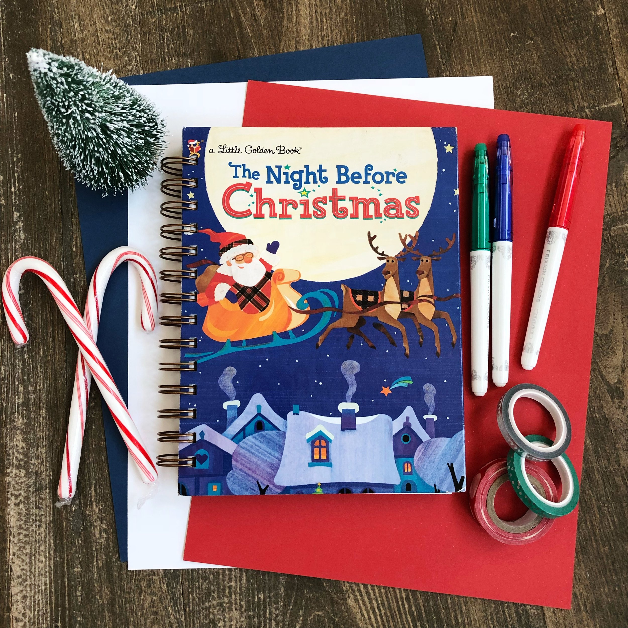 Night Before Christmas altered journal.JPG