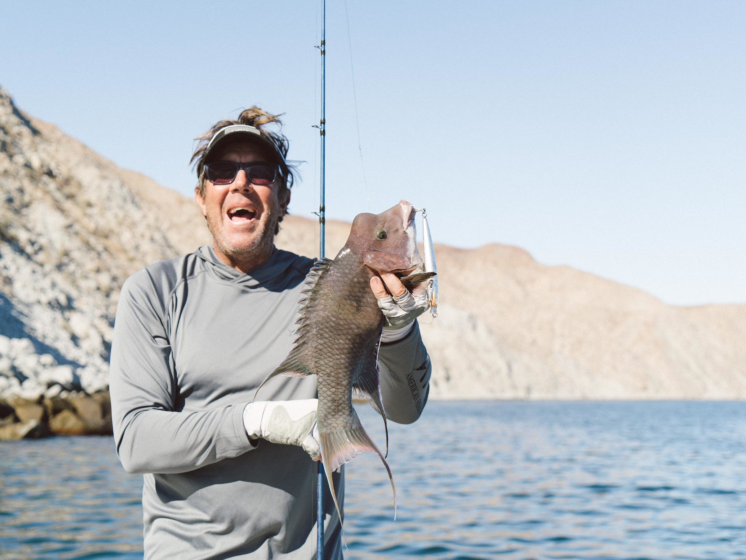 Capt. Jimmy Decker was species king with a true Sea of Cortez variety pack. Here he adds a Hogfish to his list.