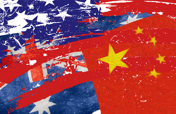 australia china usa flags