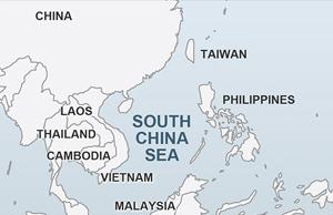 map south china sea