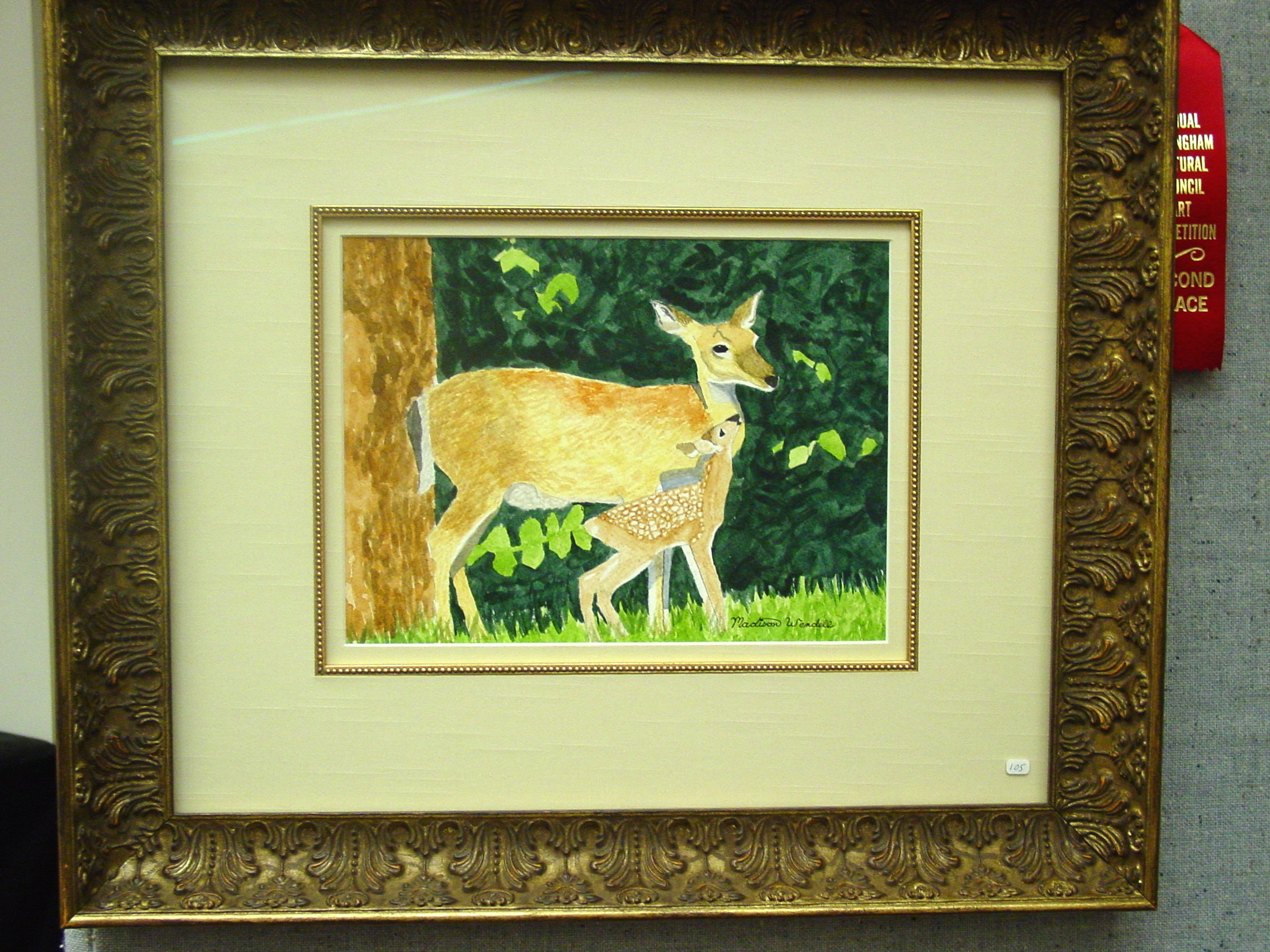 Madison Wendell.11yrs.Peace in the Woods.watercolor.2008