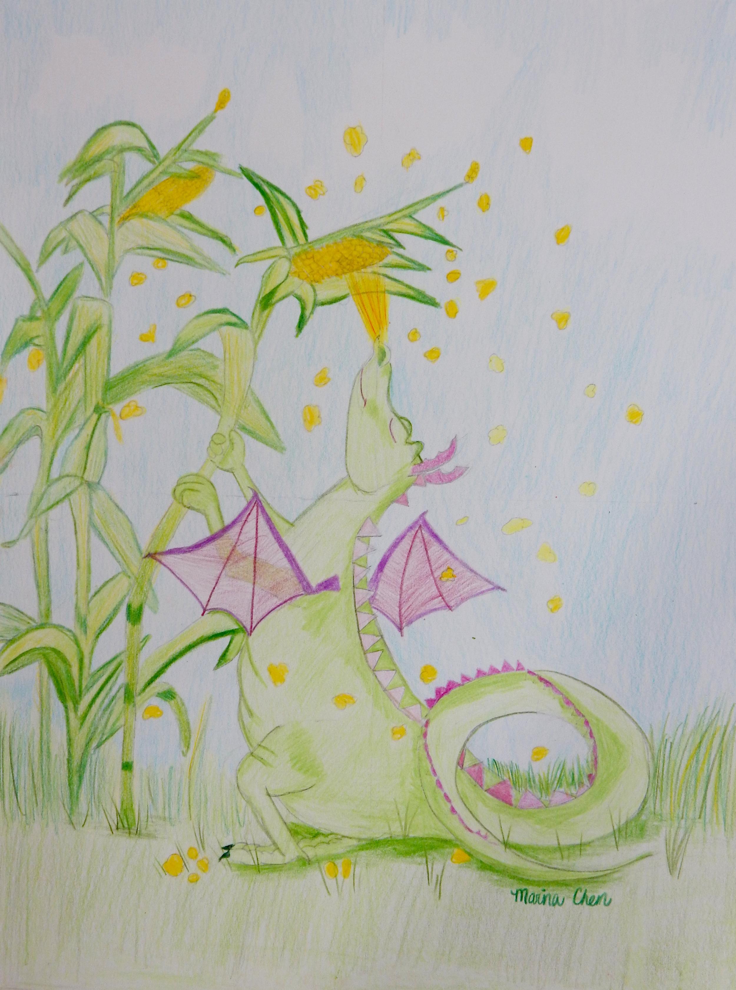 Marina Chen.11yrs.Dragon.colored pencils.6/15