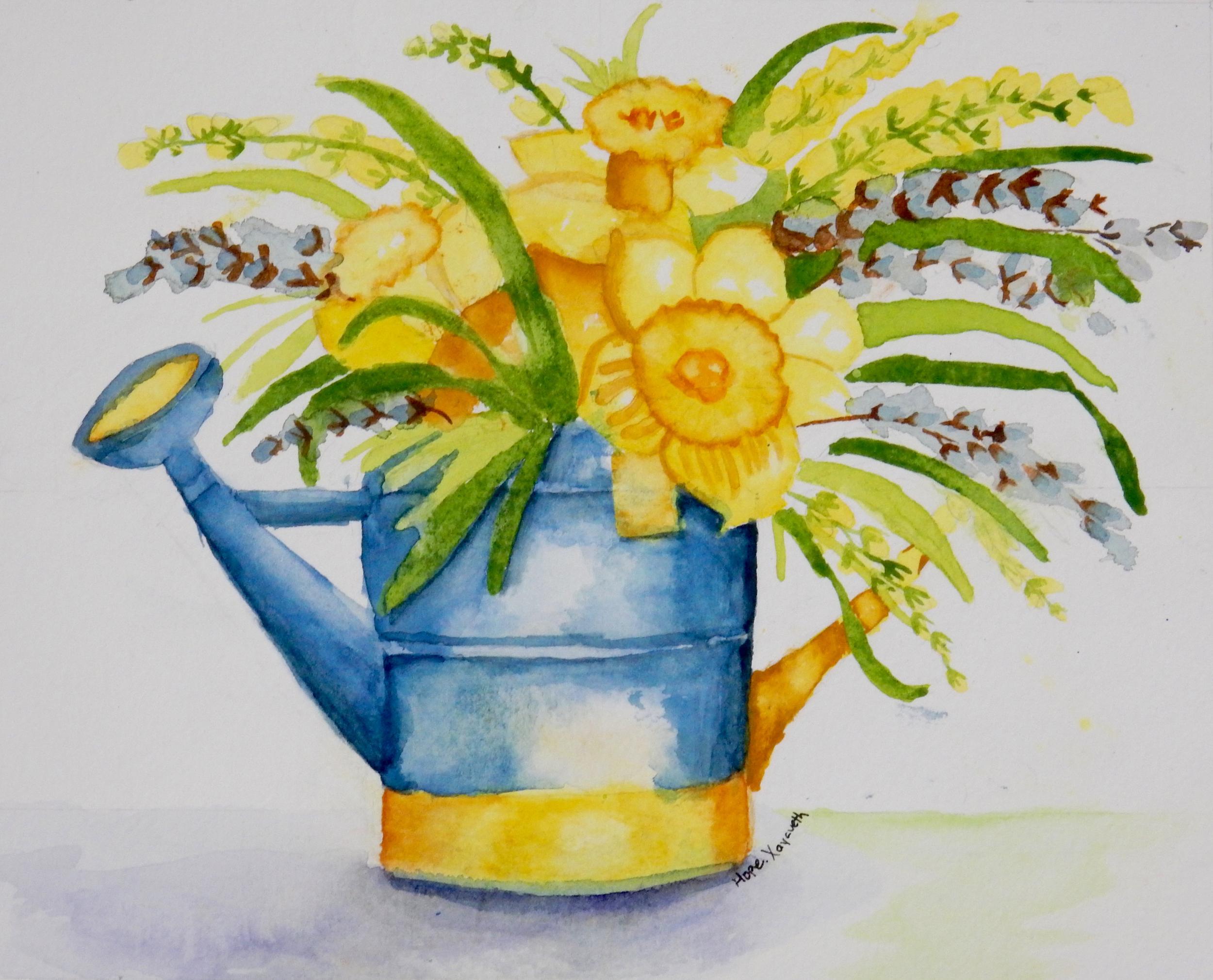 Hope Xayaveth.flowers.watercolor