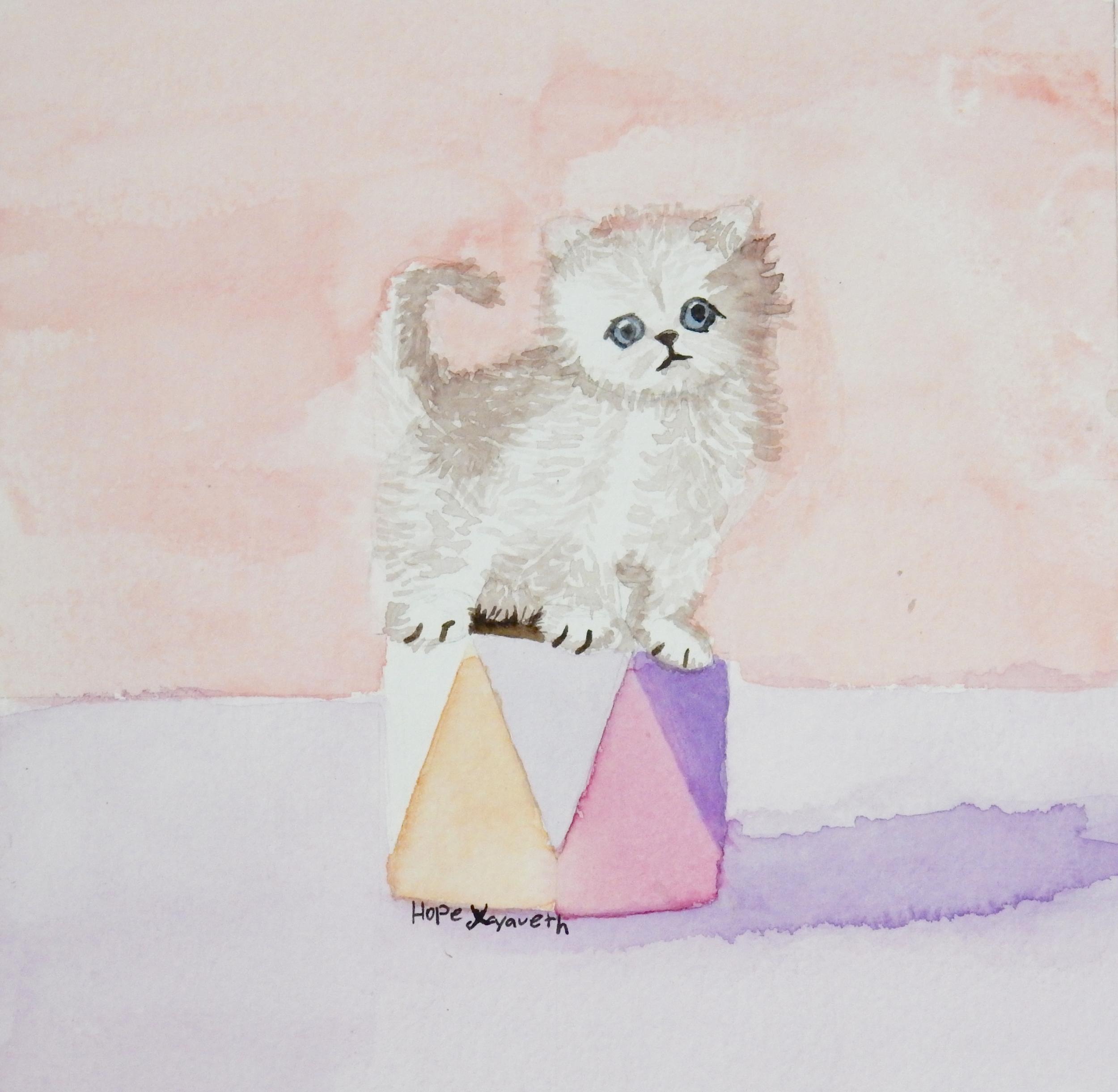 Hope Xayaveth.Cat.watercolor