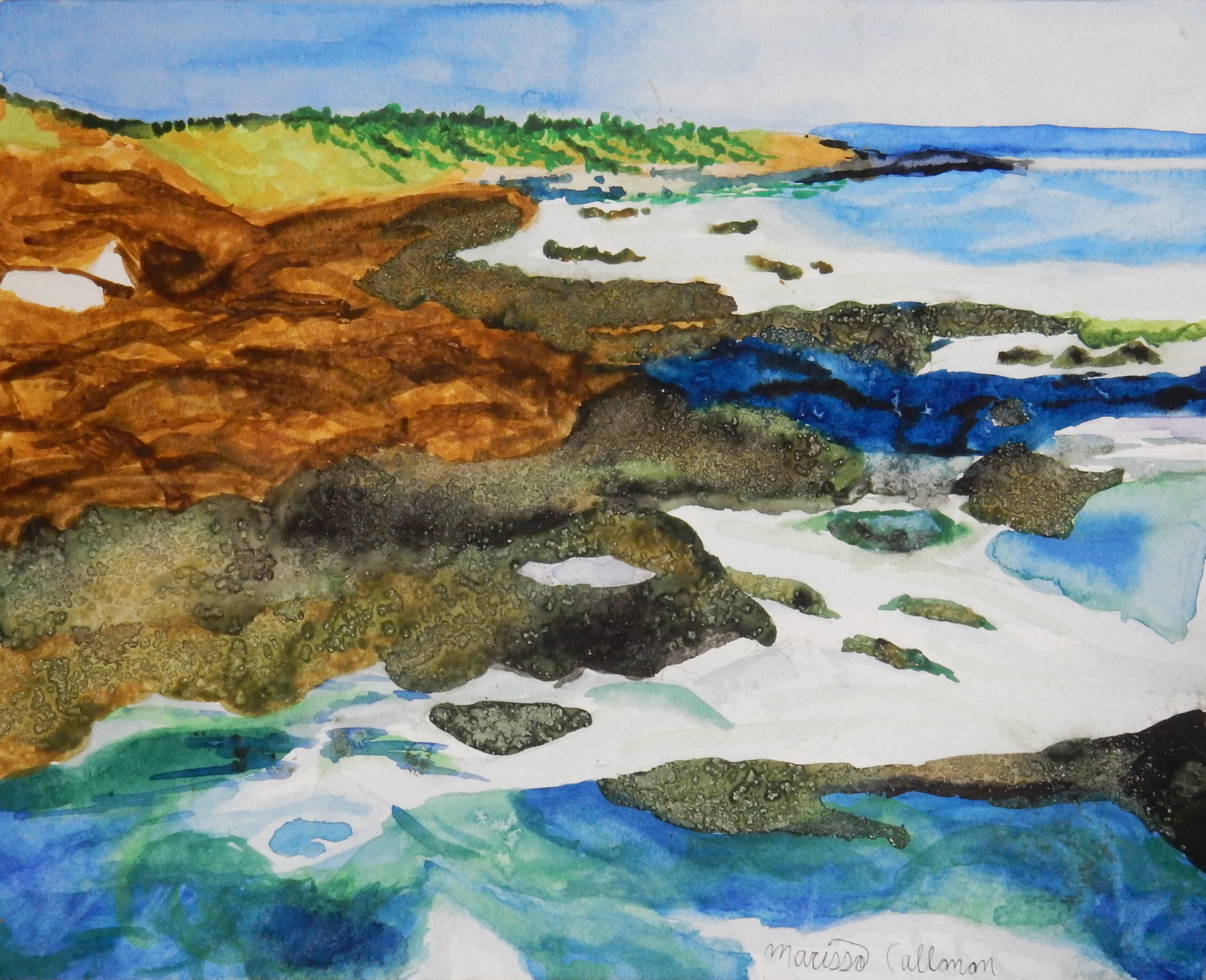 Marissa Callanan.16yrs.watercolor.Seascape