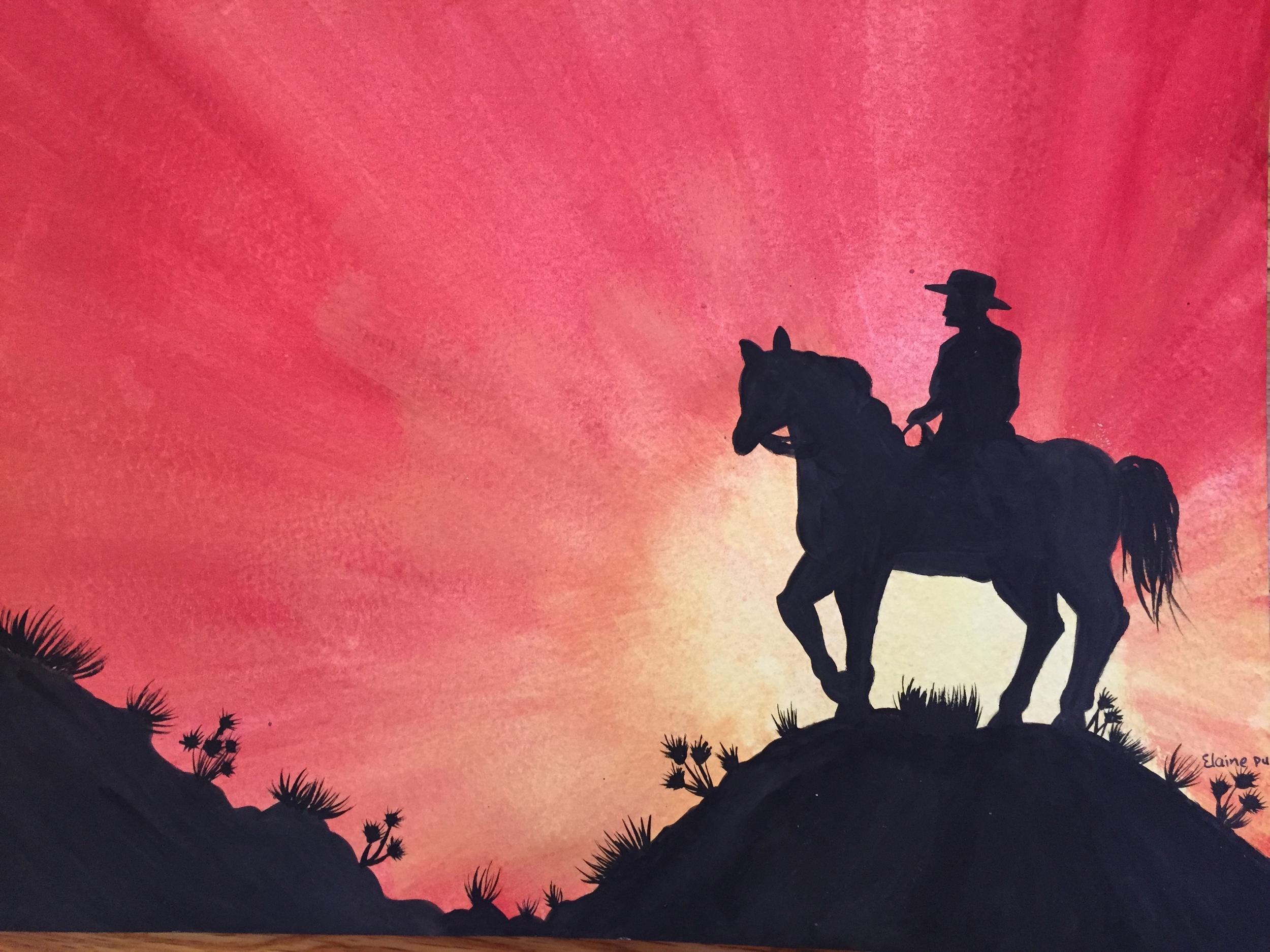 Elaine Pu.watercolor.sunset