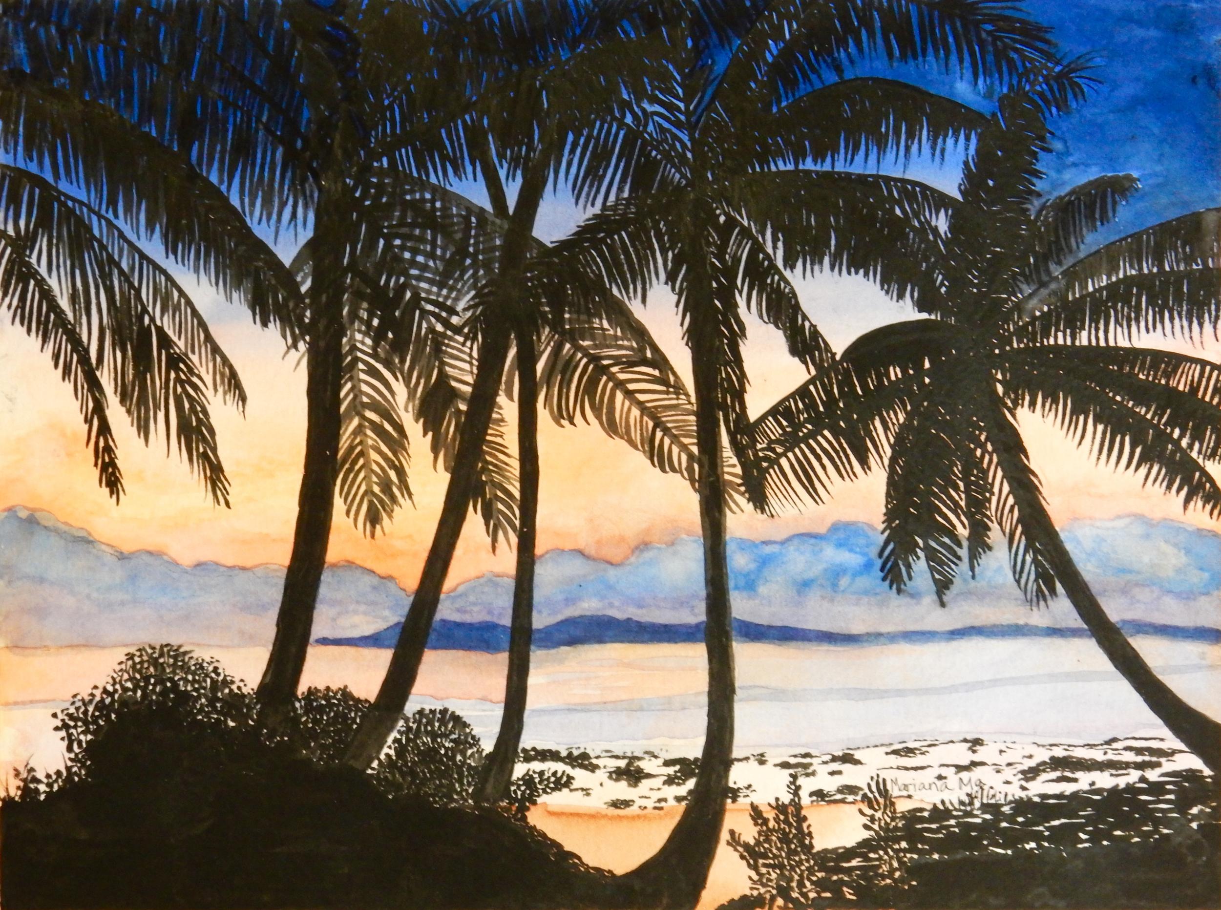 Mariana Ma.5th grade.watercolor.Summer Sunset
