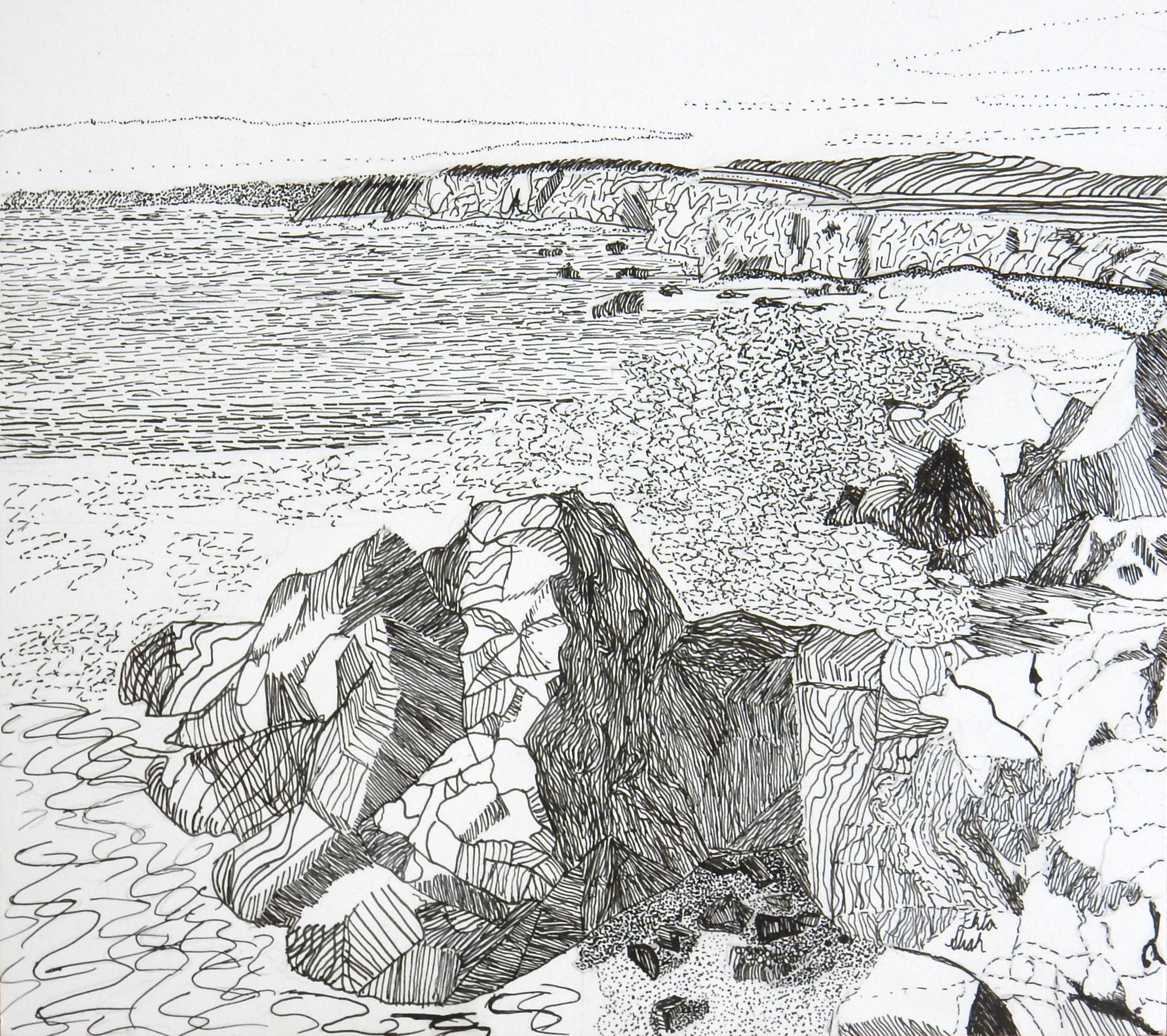 Ekta Shah.13yrs.pen&ink Landscape
