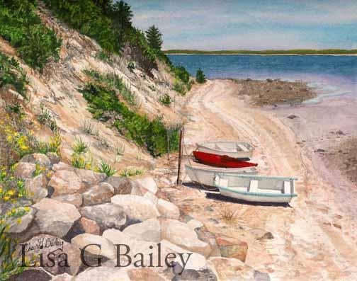 Lisa G Bailey.Chatham.watercolor.$750.00