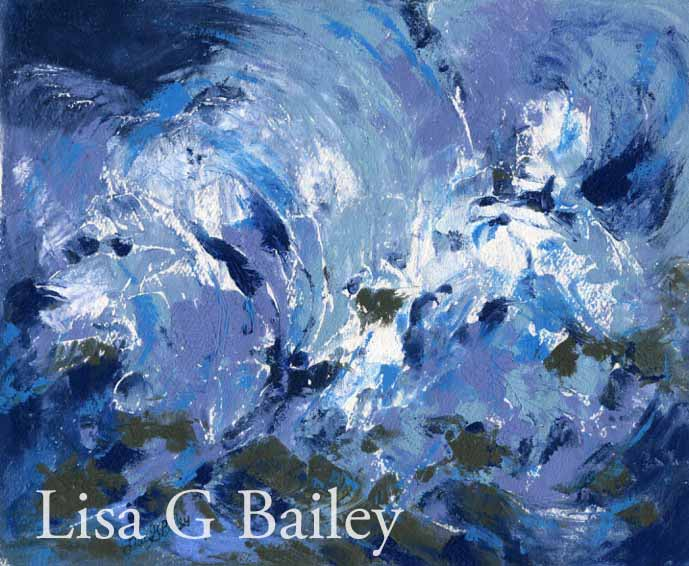 LisaGBailey.oil on paper.Raging Storm