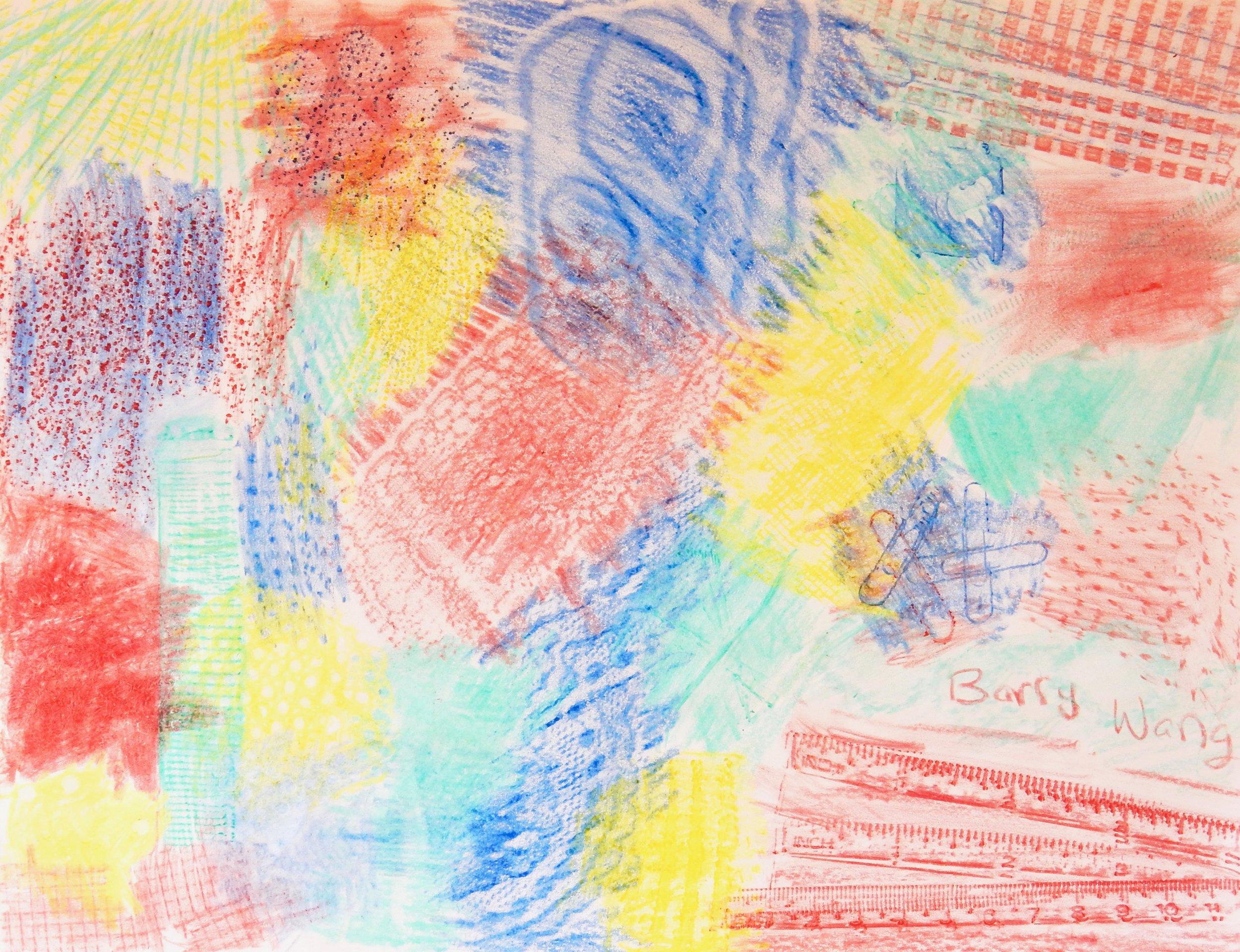Barry Wang.11yrs.crayon rubbing