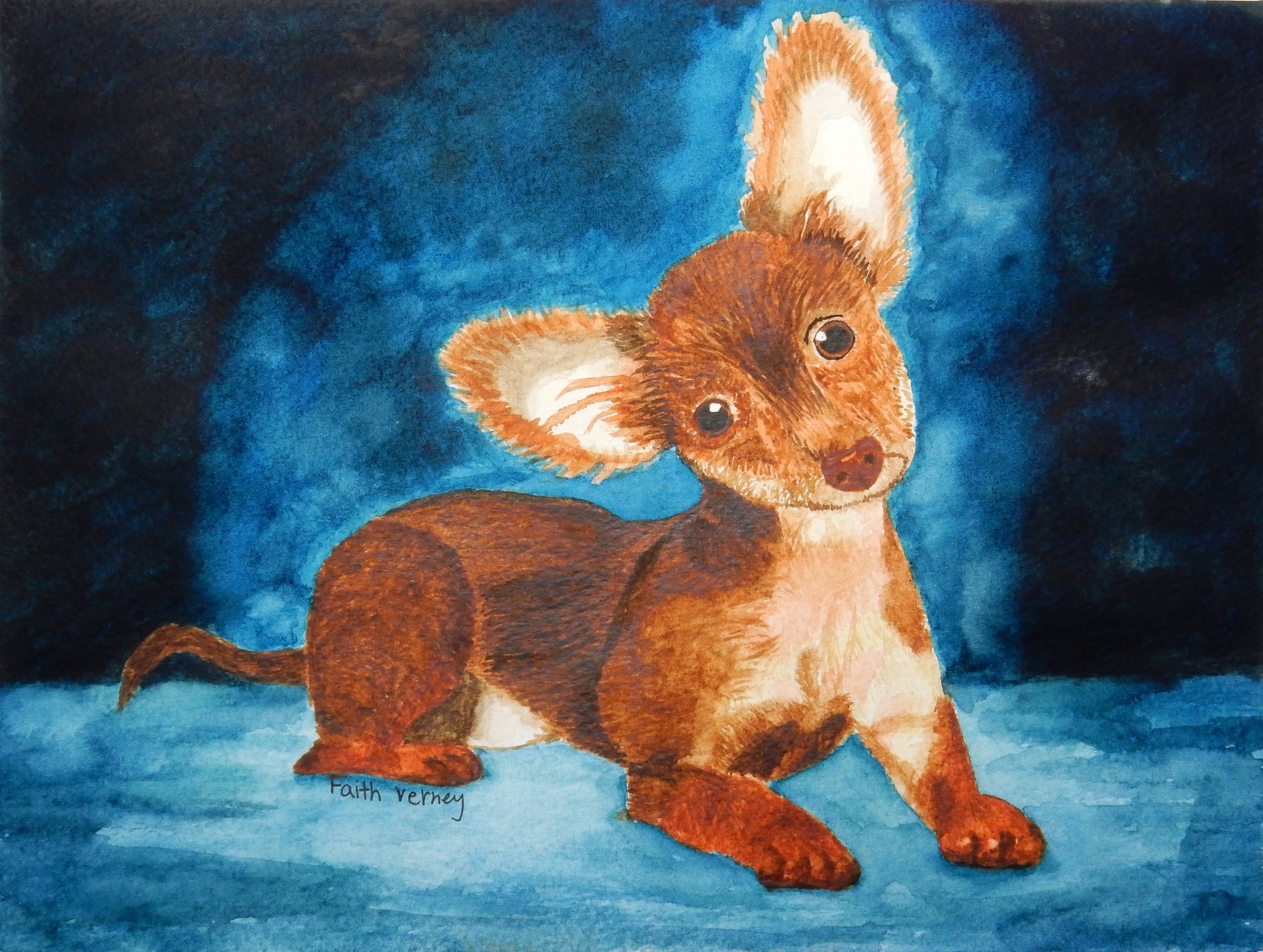 Faith Verney.Best Boy.watercolor