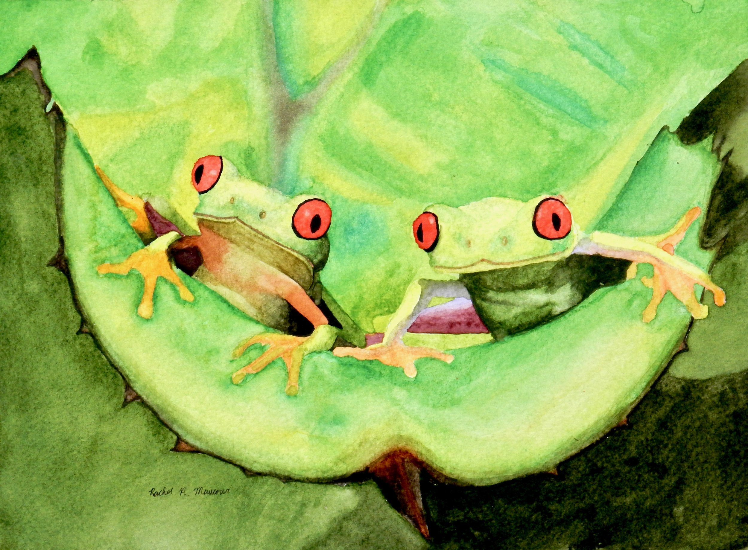 Rachel Mancour.18yrs.watercolor