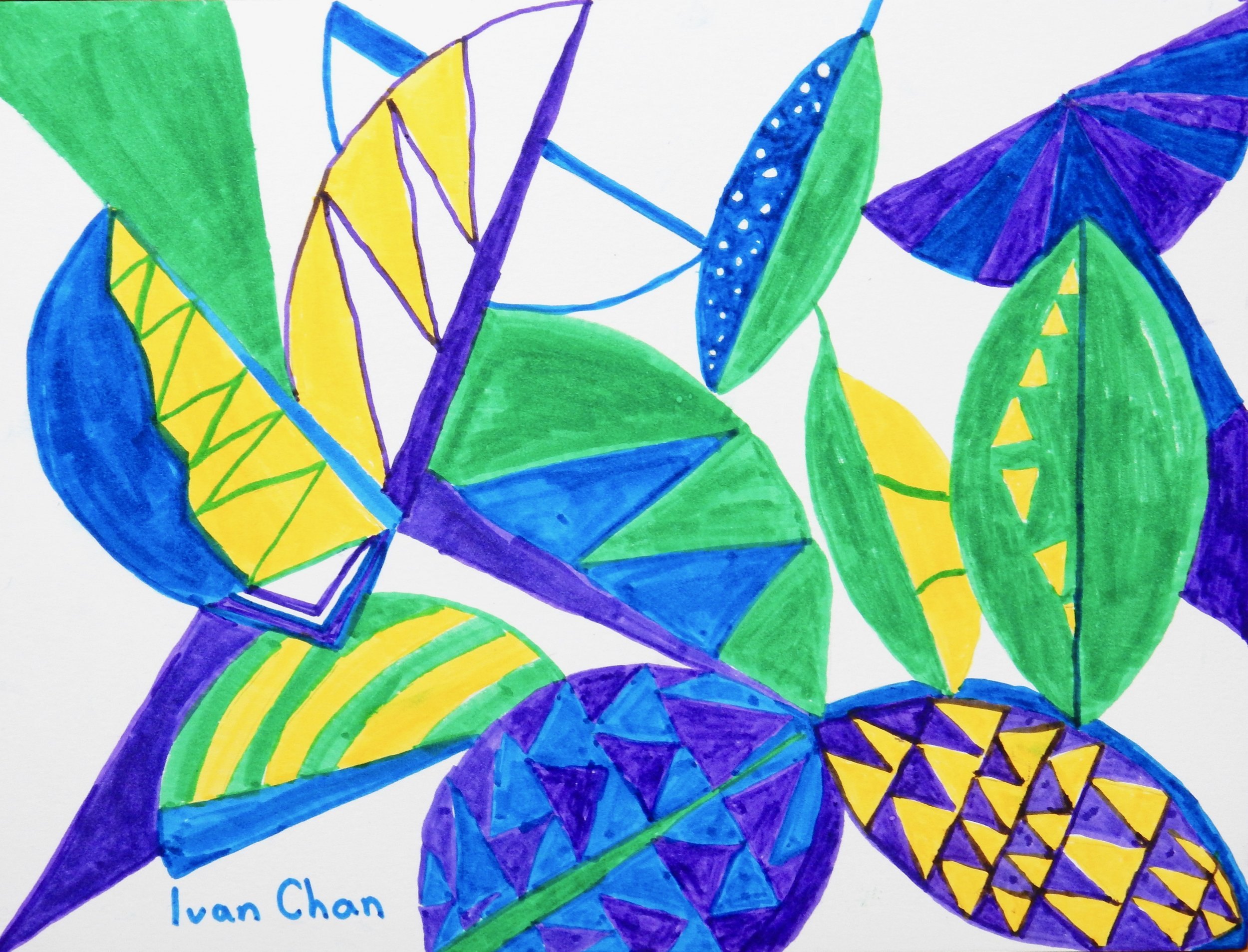 Ivan Chan.8 yrs old.markers