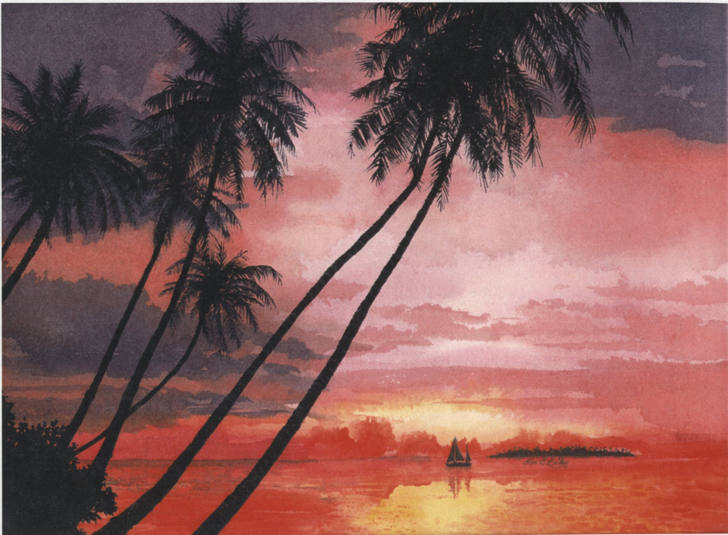 Hawaii.watercolor by Lisa G Bailey