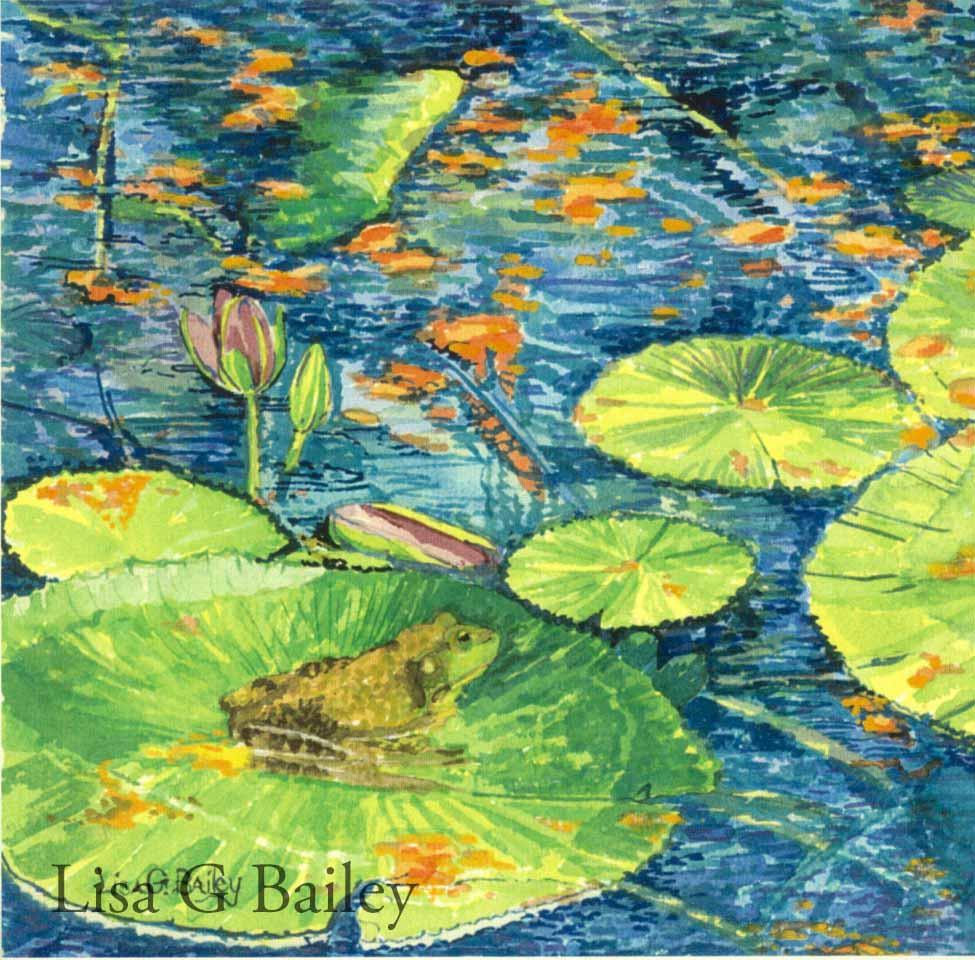 Lisa G Bailey.watercolor.Frog