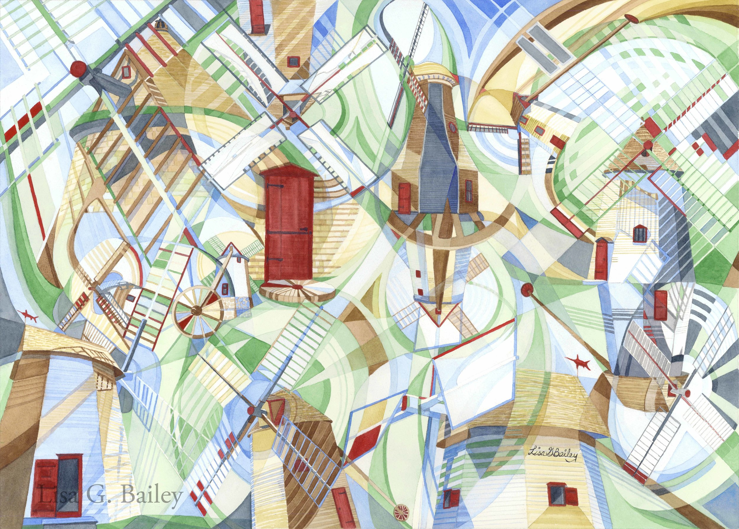 Lisa G Bailey. Colorweave. Wind in Motion
