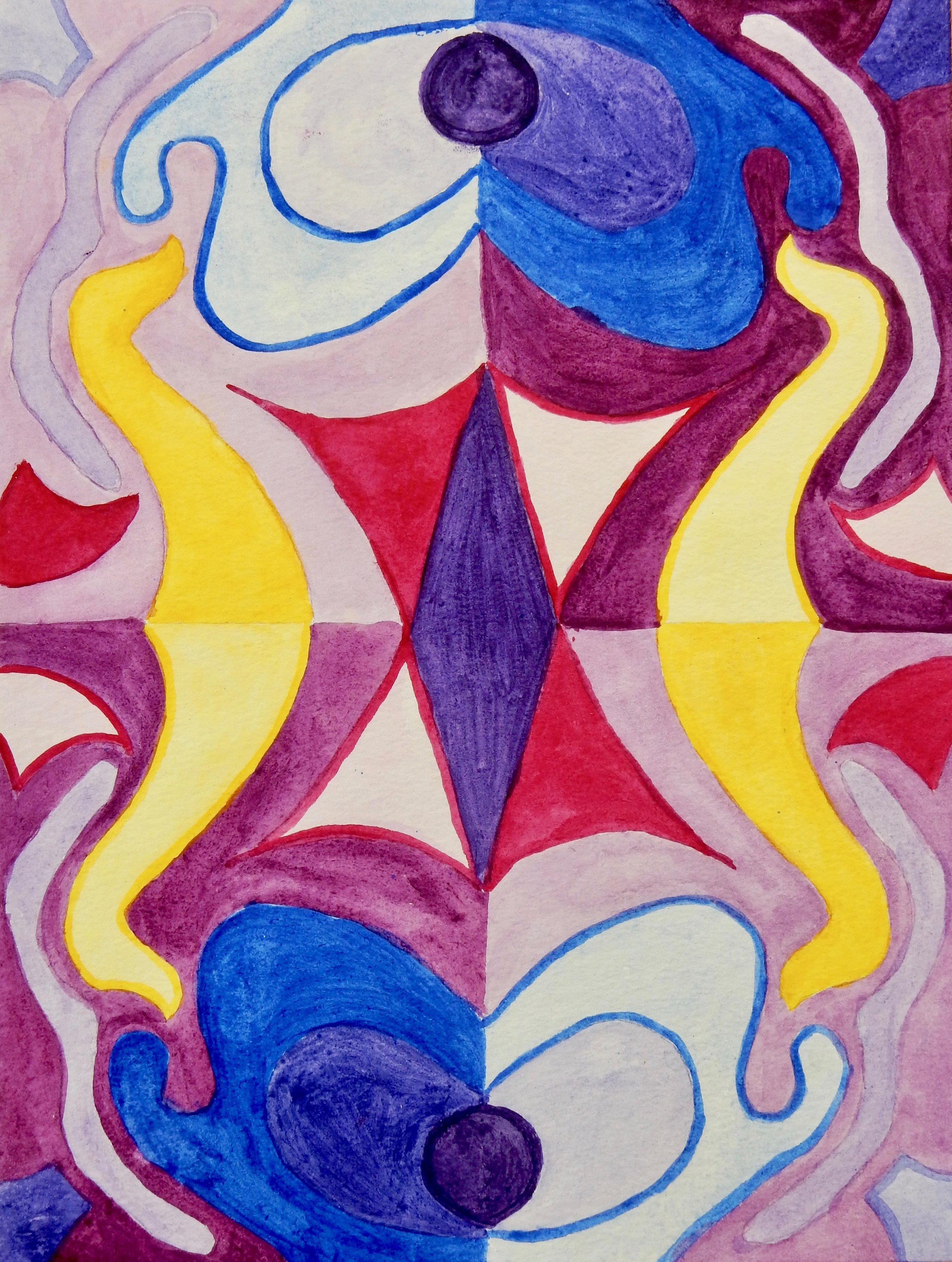 Jennifer Burkinshaw.17 yrs.watercolor