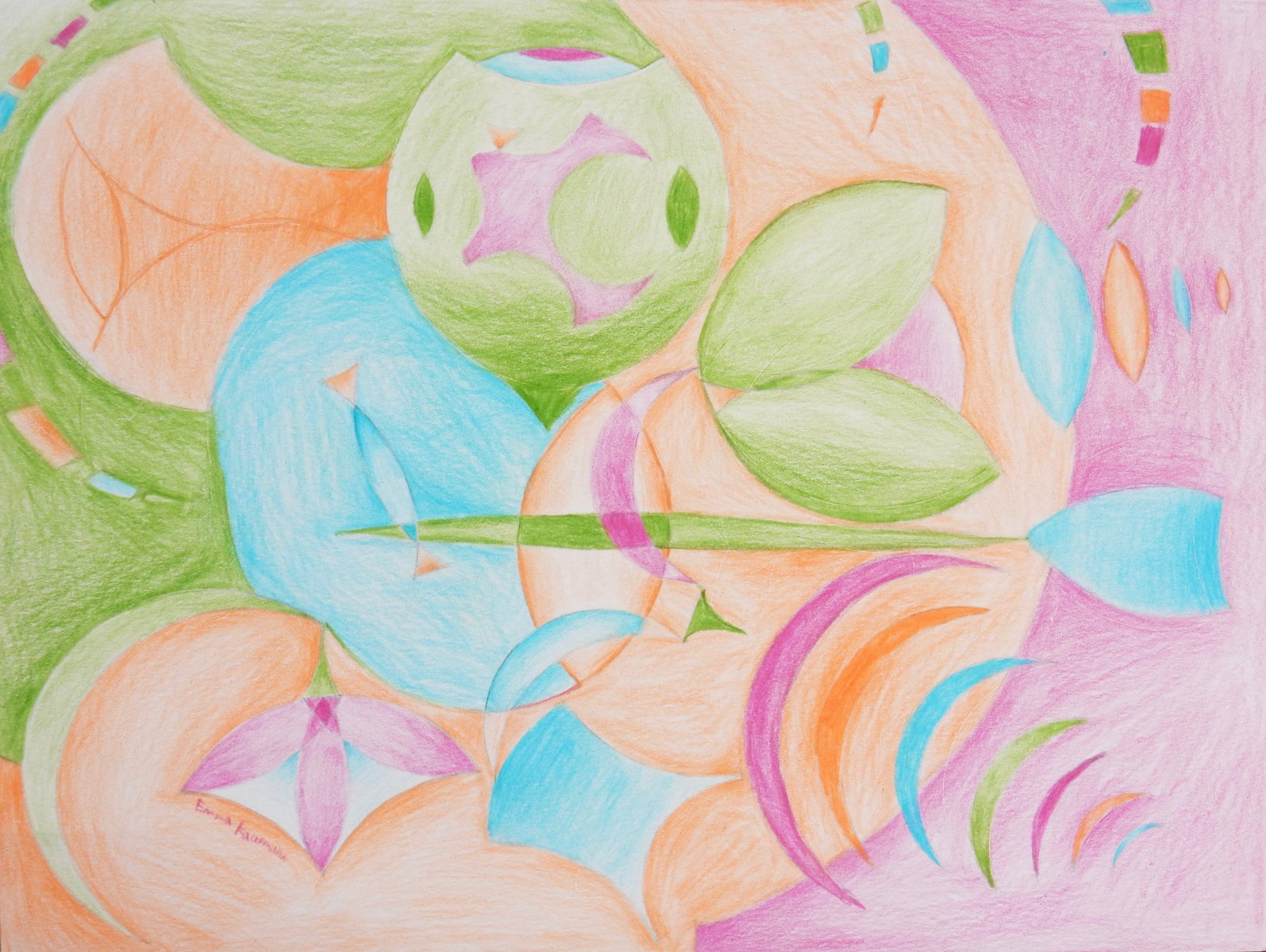 Emma Kaufmann.13 yrs.colored pencil