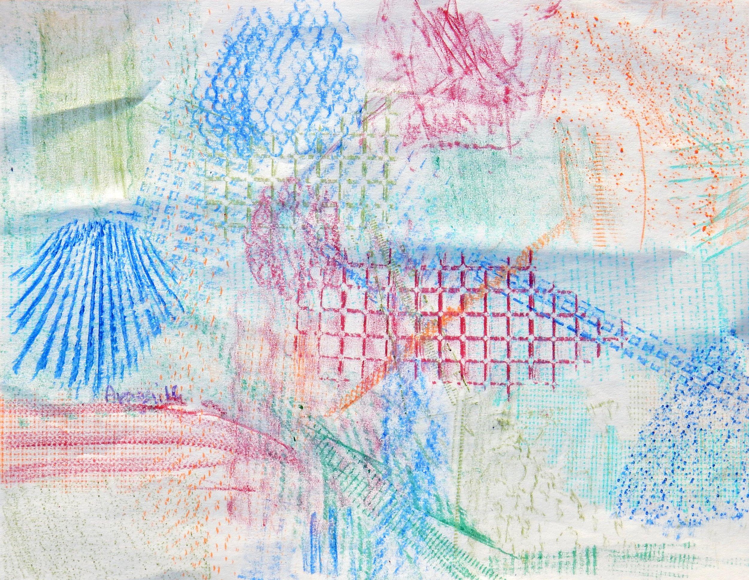 Avagail Cabral.collage rubbing.crayon
